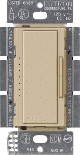 Lutron MSCELV-600M-DS Maestro 600-watt Electronic Low Voltage Multi-Location Digital Dimmer, Desert Stone