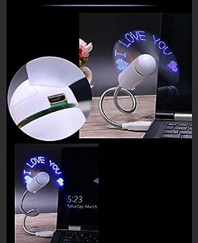 Bonwete Portable Creative Mini Snake Shaped USB Fan Word Fan for Laptop Office School Computer 9 x 3cm