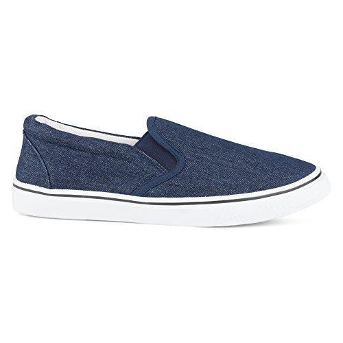Influence Mens Gore Slip-On Casual Sneaker Denim adtS6zQcQ5