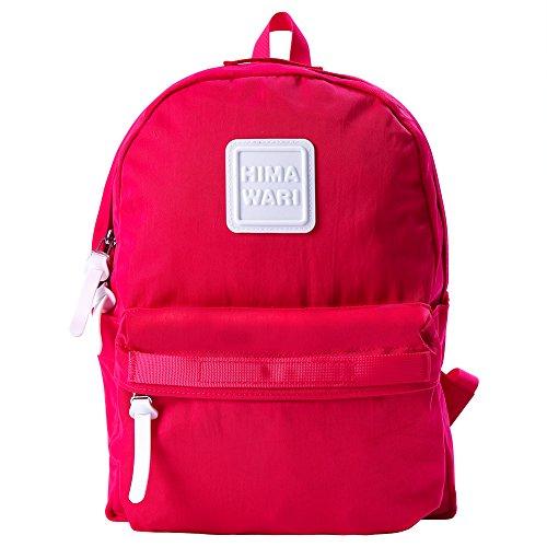 Himawari Lightweight Hiking Daypack School Bag Rucksack Travel Backpack Casual Daypack for Women School Bag for Girls (Rose red)