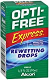 Opti-Free Express Contact Lenses Rewetting Drops - 0.33 oz, Pack of 6