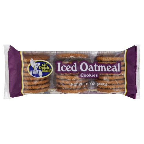 Little Dutch Maid Iced Oatmeal Cookie, 12-Ounce (Pack of 12)