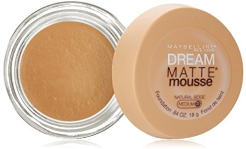 Maybelline Dream Matte Mousse Foundation, Natural Beige [2.5], 0.64 oz (Pack of ()