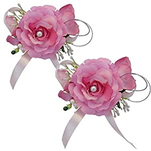 Arlai Bridegroom Bride Brooch Corsage - Artificial Silk Flower Wedding Party Gift 86