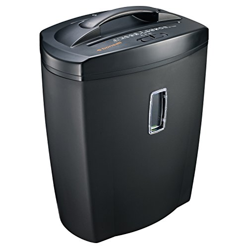 Bonsaii DocShred C156-C 8-Sheet Micro-Cut Paper/CD/Credit Card Shredder, Overload and Thermal Protection, 5.5 Gallon Wastebasket Capacity, Basket Window