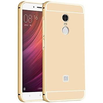 Karirap Gold Mirror bumper back cover for Xiaomi Redmi Note 4 Mobile Accessories