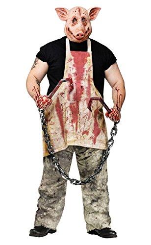 FunWorld Pork Grinder Adult Pig Costume, Tan, One size]()