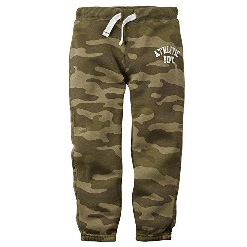 Carters Fleece Sweatpant (Carter's Baby Boys' Knit Fleece Pants (Baby) - Green Camo - 6M)