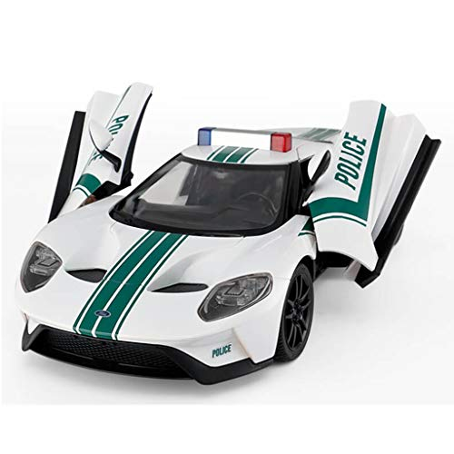 LJJOZ Electric Remote Control Car Toy Car Model Rechargeable Set 8.2 Km Per Hour White from LJJOZ