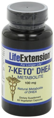 Life Extension 7-Keto DHEA 100 Mg, 60 vegetarian capsules
