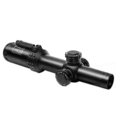 Bushnell Optics FFP Illuminated BTR-1 BDC Reticle Riflescope with Target Turrets and Throw Down PCL, 1-4x 24mm