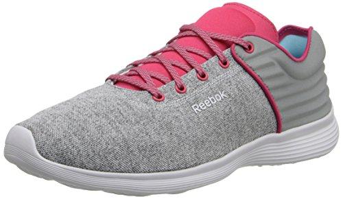 Reebok Womens Skyscape Fuse Walking Shoe Ghiaia / Blazing Pink / White