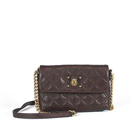 Marc Jacobs Women's The Single Chain Brown Leather Crossbody Bag