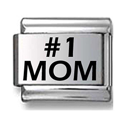 #1 MOM Laser Italian Charm
