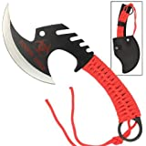 Zombie Killer Skullsplitter Throwing Axe - Red