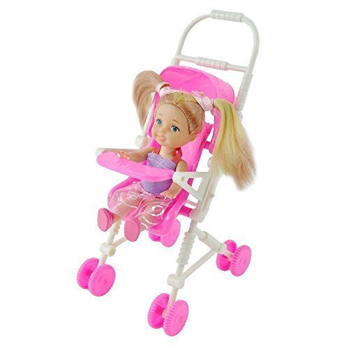 Qiyun Baby Infant Carriage Stroller For Kelly Doll Barbie Plastic Furniture