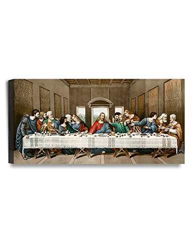 (DECORARTS The Last Supper, Leonardo Da Vinci Classic Reproductions, Giclee Canvas Prints Wall Art for Home Décor, 24