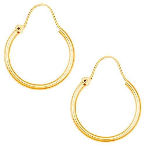 14k Yellow Gold Childrens Hoop (Children's 14k Yellow Gold U Wire Baby Hoop Hoops Earrings 1.25x9mm)