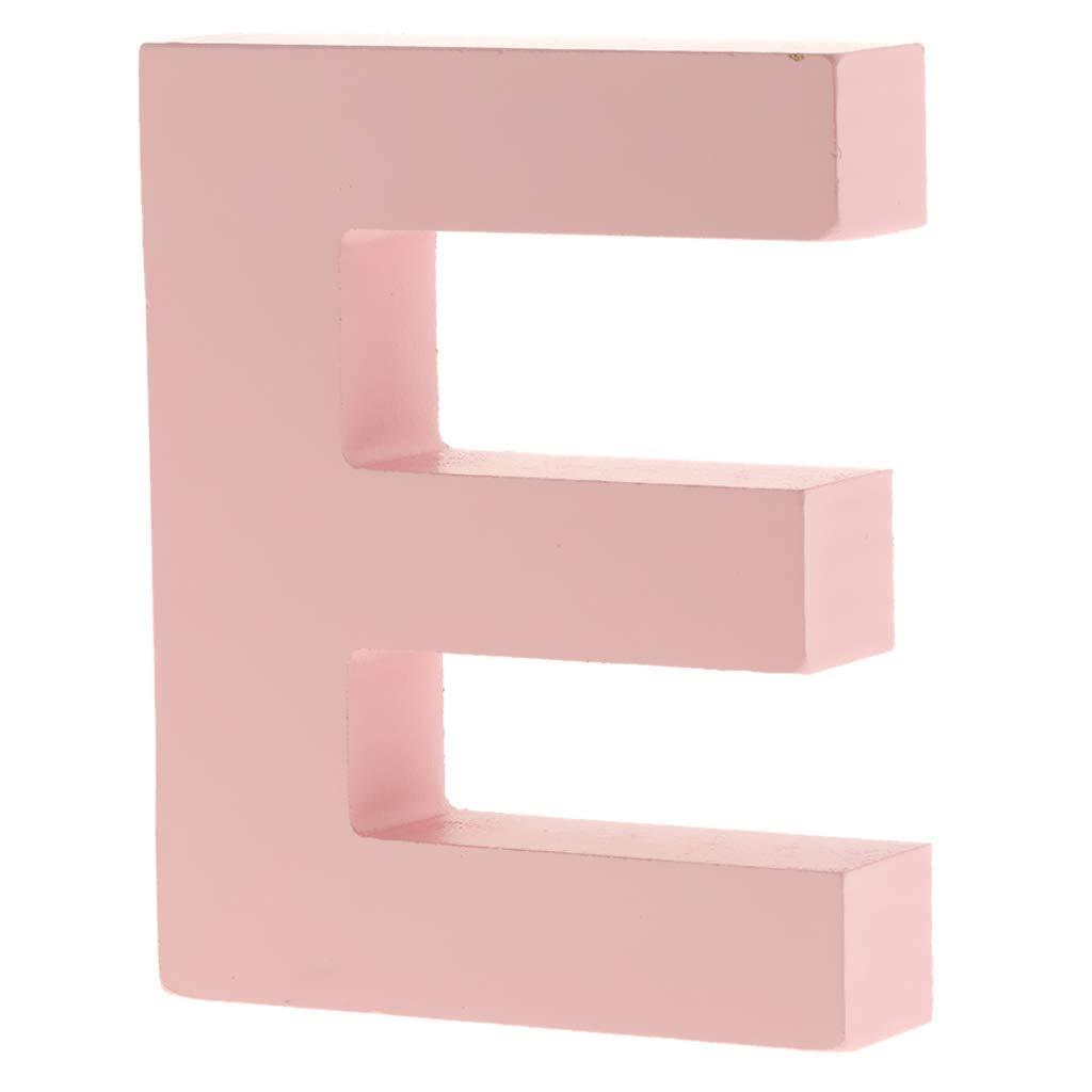 Unbekannt Holzschild f/ür Kinderzimmer Rosa a 26 Buchstaben Motiv A-Z