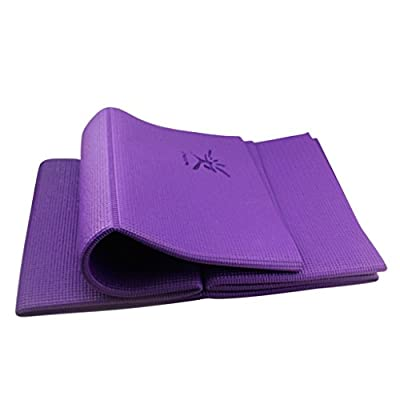 IVIM Folding Portable Non-slip Yoga Mat Exercise Mat for Travel, Free From Phthalates & Latex