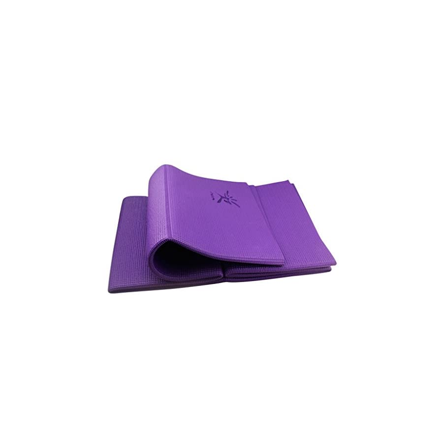 IVIM Folding Portable Non slip Yoga Mat Exercise Mat for Travel, Free From Phthalates & Latex