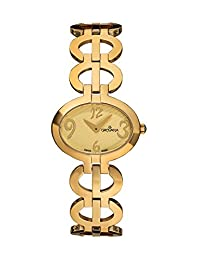 Grovana Women's 4566-1111 Ladies Dress line Analog Display Swiss Quartz Gold Watch