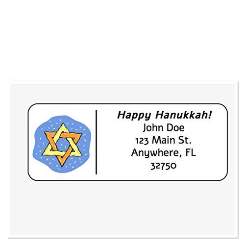 Personalized Address Labels, Happy Hanukkah Star Of David Set Of 30, Personalized Wedding Address Labels, Engagement Labels, Bridal Labels ()