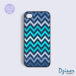 iPhone 5 5s Case - Blue Ombre Chevron iPhone Cover
