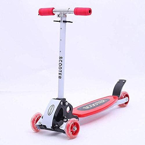 Zhangl 子供のスクーター三輪スクーター3-5歳スクーター三輪スケート子供のおもちゃ、子供スタントスクータースクーター、幼児スタントスクーター (Color : 赤)