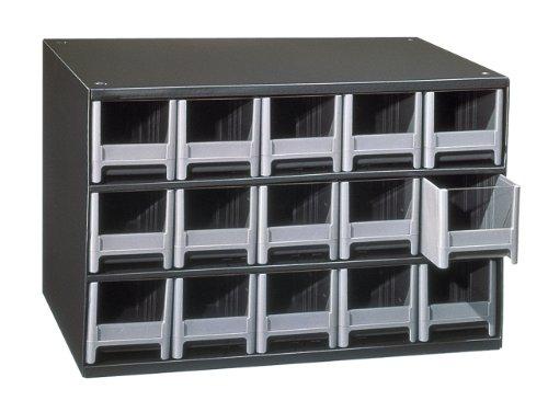 (Akro-Mils 19715 15 Drawer Steel Parts Storage Hardware and Craft Cabinet, Grey)