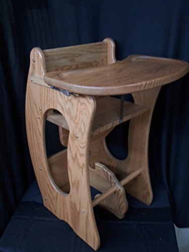 3 in 1 Combo Highchair w/Tray, Rocker, Desk Solid Oak Kids Toy Provincial Stain by Amish Crafted