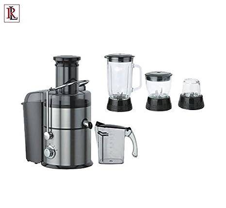 Juicer, licuadora 4 in1 Set jarra para zumo, batidora Jarra, vidrio häcksler seco Molinillo 1000 W: Amazon.es: Hogar