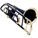 TROMBONE Bb PITCH BLACK FOR SALE WITH FREE HARD CASE AND MP