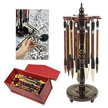 Golden Panda Master Quality Chinese Calligraphy Paint Brush Set 18 Master Quality Chinese Calligraphy Brushes - [Set of 18] ()