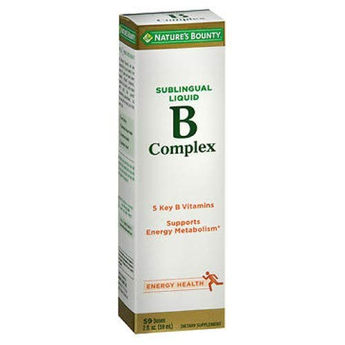 (Nature's Bounty Vitamin B Complex Sublingual Liquid 2 oz ( Pack of 4))