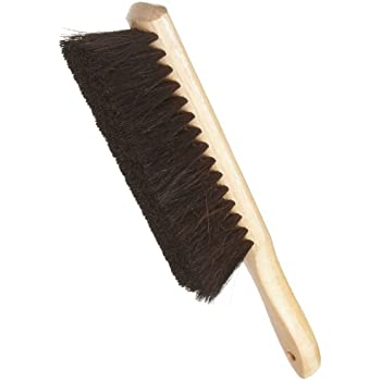 "Weiler 71019 Horsehair Counter Duster with Wood Handle, Wood Block, 2-1/2"" Head Width, 8"" Overall Length, Natural"