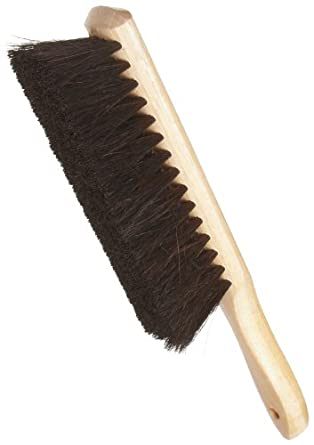 """Weiler 71019 Horsehair Counter Duster with Wood Handle, Wood Block, 2-1/2"""" Head Width, 8"""" Overall Length, Natural"""