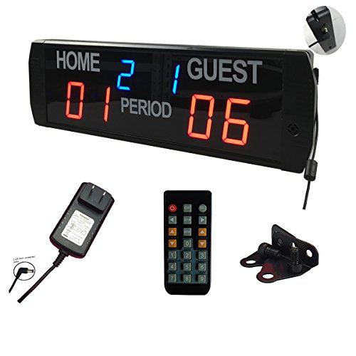 Ledgital Electronic Scoreboard Tennis Pingpong and more 24x7.4 Inches w/ Remote Control Indoor Use ONLY by Ledgital