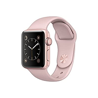 New Apple Series 2 Watch for iPhone - 38mm Rose Gold Aluminum Case with Pink Sand Sport Band