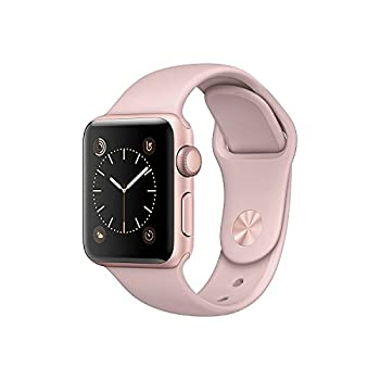 Apple Watch Series 2, 38mm Rose Gold Aluminum Case With Pink Sand Sport Band 1