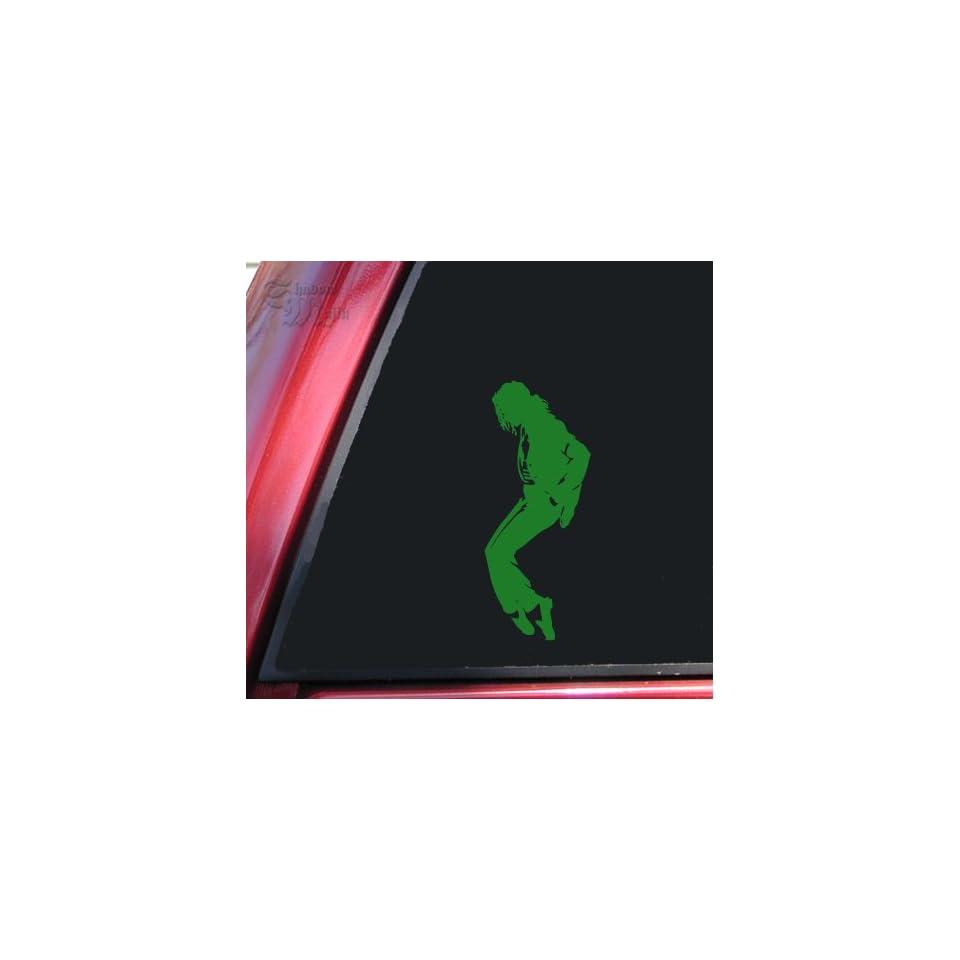 Michael Jackson Silhouette Vinyl Decal Sticker   Green