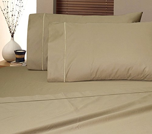Luxury 1050 TC Thread Count Egyptian Cotton Blend Sheet Set Super Soft Premium - Luxurious, Ultra Soft & Wrinkle Resistant (King, Taupe)