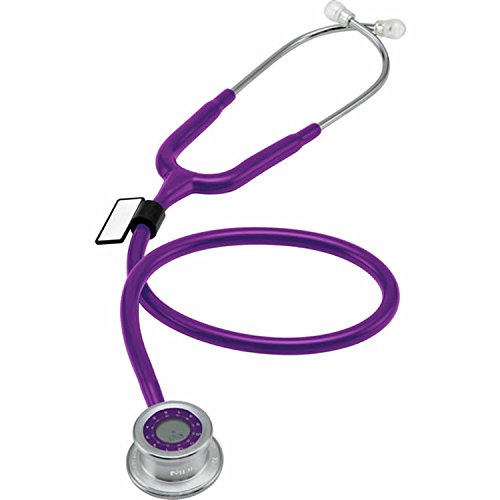 MDF Pulse Time 2-in-1 Digital LCD Clock and Single Head Stethoscope - Purple (MDF740-08)