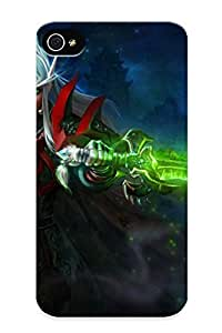 Awesome 4a14d5d4902 Pirntalonzi Defender Tpu Hard Case Cover For Iphone 4/4s- World Of Warcraft Warriors Elves Armor Games Fantasy Girls Warrior