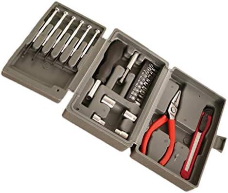 TOPBATHY 24PCS多機能ドライバーセットは、車の修復木工用マニュアルソーを測定するツールキットをタップ修理します