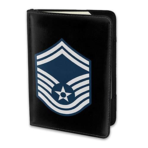 Travel Passport Cover Case Passport Holder 5.51 X 3.94 Air Force Master Sergeant 1st SGT Diamond Rank