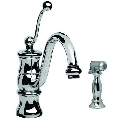 Graff G-4120-PC Vintage One Handle Kitchen Faucet with ...