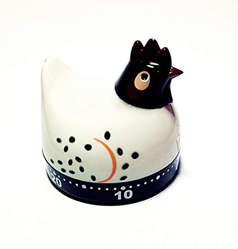 Timer - Mechanical, Chicken Shape - White (Sturdy Plastic)