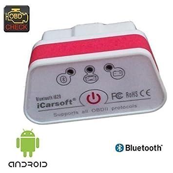 iCarsoft i620 - Dispositivo de diagnóstico Bluetooth para Android: Amazon.es: Coche y moto