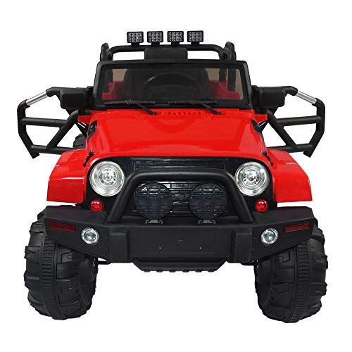 RYPF Best Choice Products 12V Kids on Car SUV with R/C Parental Remote + MP3 Music Player Bluetooth FM Radio + LED Lights 2 Colors (red)